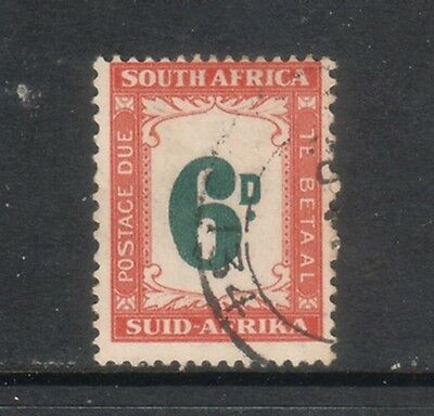 SOUTH AFRICA --Postage Due....  1950-58  6d green/orange  used,  SgD43