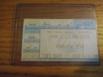 Grateful Dead, Concert Ticket Stub, 09/20/1988, MSG, Madison Square Garden