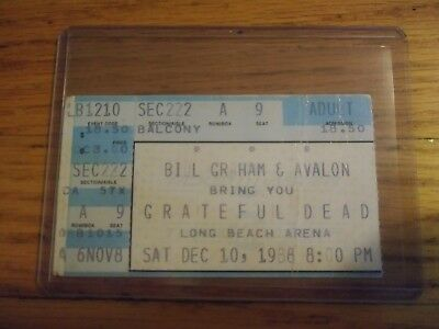 Grateful Dead, Concert Ticket Stub, 12/10/1988, Long Beach Arena