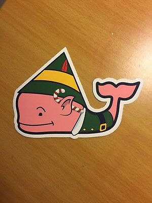 vineyard vines whale sticker (elf whale) #christmas