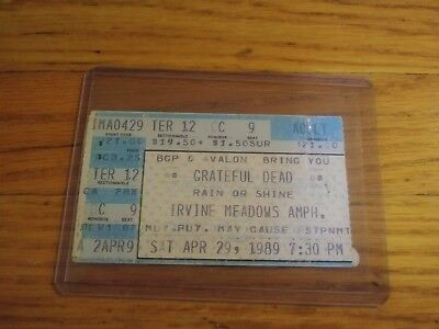 Grateful Dead, Concert Ticket Stub, 04/29/1989, Irvine Meadows Amphitheatre