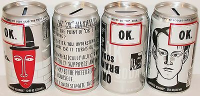 Vintage soda cans COCA COLA OK bank tops Project X 4-20-94 Set of 4 Very Rare