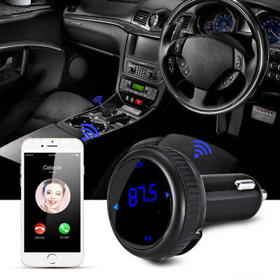 Bluetooth Wireless FM Transmitter Car MP3 Player Handsfree LCD USB Charger Kit