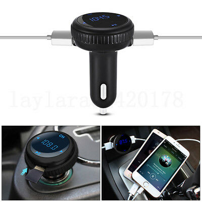 Bluetooth Wireless FM Transmitter Car MP3 U Disk Handsfree LCD USB Charger Kit