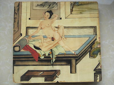 """CHINA OLD ALBUM FLODING BOOK""""Couples Story""""FOLK TRADITIONAL PAINTING G7"""