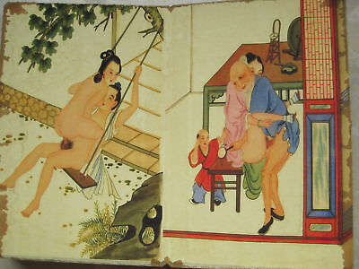 """CHINA OLD ALBUM FLODING BOOK""""Couples Story""""FOLK TRADITIONAL PAINTING G3"""