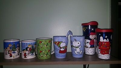 peants christmas mugs and tervis cups charlie brown christmas snoopy