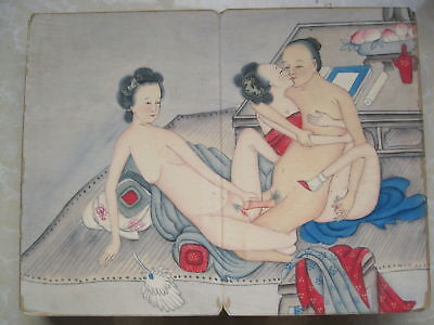 """CHINA OLD ALBUM FLODING BOOK""""Couples Story""""FOLK TRADITIONAL PAINTING G6"""
