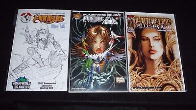 Witchblade convention exclusives lot of 3 from 2000, 2002, and 2007