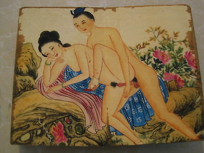 """CHINA OLD ALBUM FLODING BOOK""""Couples Story""""FOLK TRADITIONAL PAINTING G1"""