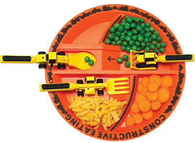Constructive Eating Construction Plate and Utensils Set Value Pack FREE SHIPPING