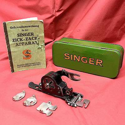 Unique German Singer 1356 Zig-Zag Low Shank Foot Attachment ZigZagger by 3FTERS