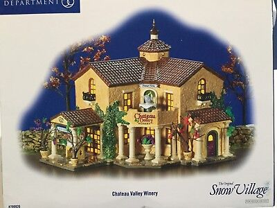 Dept 56 Snow Village® CHATEAU VALLEY WINERY - BRAND NEW