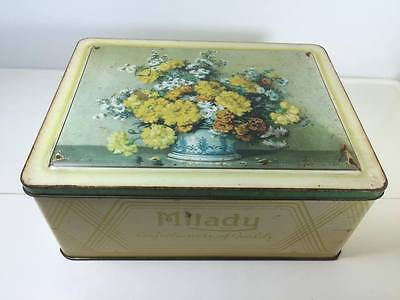Milady Floral Confectionery Tin Waller & Hartley Ltd. Liverpool England