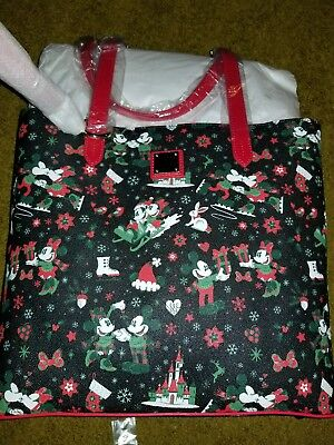 Disney Dooney & and Bourke Woodland Winter Tote Christmas NWT