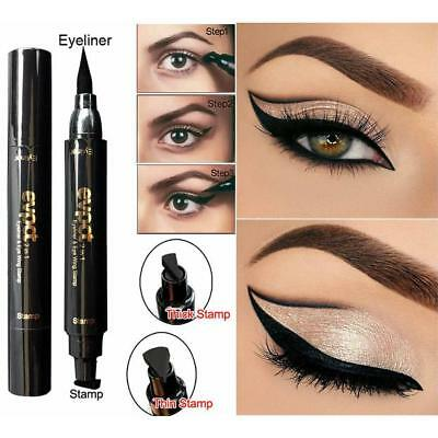 Pro Winged Eyeliner Stamp Waterproof Makeup Cosmetic Eye Liner Pencil Liquid Kit