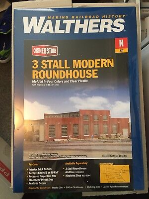 N Scale Walthers Cornerstone 3 Stall Modern Roundhouse