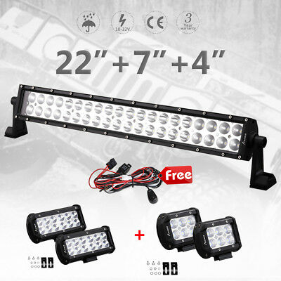 "23"" 200w LED Light Bar 7inch 36w Spot Beam CREE 4"" 30w Offroad Work SUV 4WD Lamp"