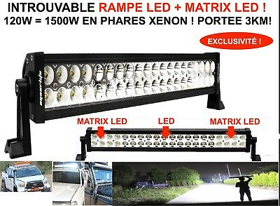 Incroyable Portee 3Km! Barre Rampe Phare Led + Matrix Led! Special Bateau Marine