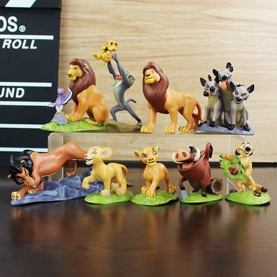 9pcs The Lion King Cake Topper Action Figures Doll Kids Baby Toy Simba Xmas Gift