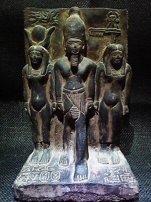MENKAURE With BAT and HATHOR EGYPTIAN STELA Figure Sculpture Statue 2530–2500 BC