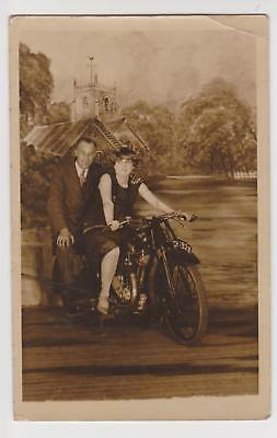 Rp Vintage Motorcycle Photographers Prop, C Howell Blackpool Dated 1928