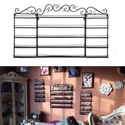 3 in 1 5 Tier Nail Polish Rack Holds 200+ Bottles Wall Display Rack Wall Mounted