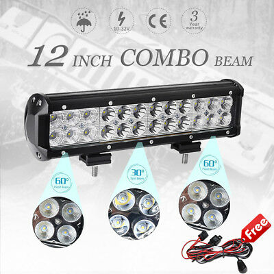 12inch 120w CREE Spot&Flood LED Work Light Bar Off road SUV UTE Driving Lamp 4wd