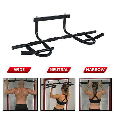 Portable Chin Up Bar Indoor Home Doorway Wall Mounted Pull Up Dip Abs Exercise