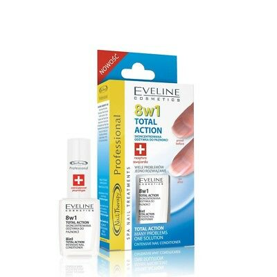 Eveline Cosmetics Nail Spa Total Aktion 8 in 1 Conditioner für intensive Nagelpf
