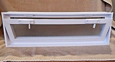 Glass Block Window Vent Double pane Insulated Glass 22 x 8 x 3