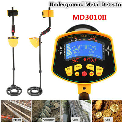 MD-3010II Metal Detector Gold Digger Deep Hunter Sensitive LCD Display*