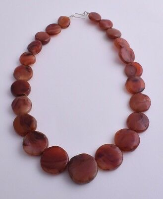 Vintage Old Carnelian Agate beads Necklace-trade beads strand-middle eastern