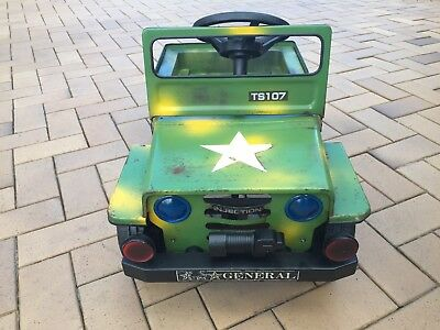 Pedal Car Jeep Army 4wd Military Vintage Antique Fj Series Willys Toy Rare Old