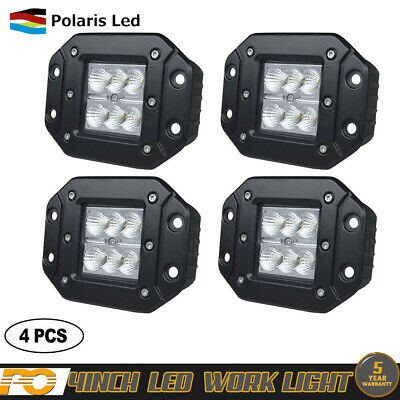 "4pc 4"" inch 72W CREE LED Work Light Pod Flood Beam Offroad Driving Lamps 24V12V"