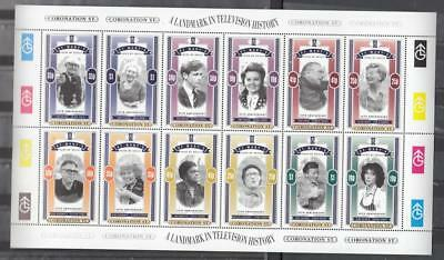 Full Sheet Of St. Mary's Isles Of Scilly Poster Stamps Of The 35th Anniversary C