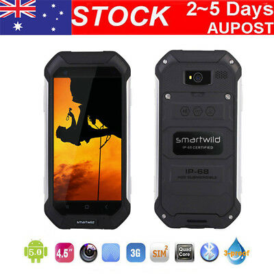 "3G Rugged SmartPhone Nut1 4.5"" Android MTK6580 Duad Core Rom 8G Mobile Phone AU"