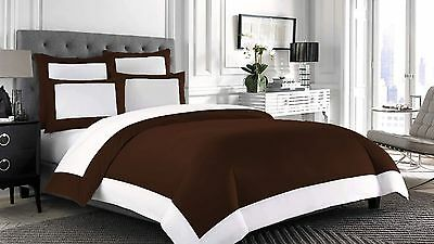 Egyptian Cotton 1000TC Designer Reversible Duvet Set with Fitted ALLSize & Color