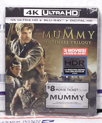 New The Mummy Trilogy 4K Ultra Hd+Blu-Ray+Digital Hd Digipack! 6 Discs! Sealed