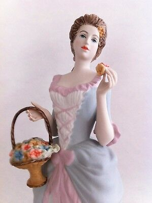 Royal Dux Porcelain Figurine/Statue of Lady With Flower Basket, Czech Made