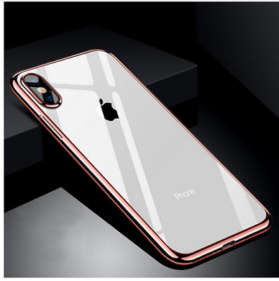 Ultra thin Clear Plating TPU Soft Phone Case Cover For iPhone X 8 7 5 6 6s Plus