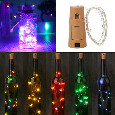 Stopper String Light Bottle Cork Creative Glowing 10Pcs Solar Energy Party
