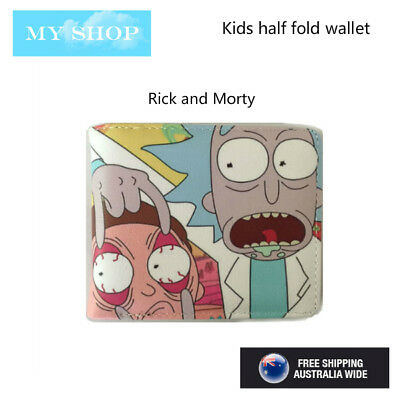 Rick and Morty--Boys Girls Children Teen-ages Faux Leather Bi-fold Slim Wallet