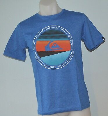 Quiksilver Boys Printed T Shirt - BLUE  - SIZE - 10,12, 14 & 16 YEARS - NEW
