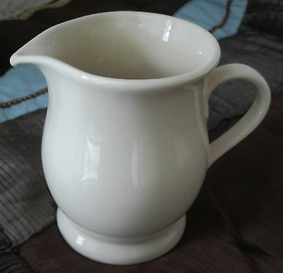 Elegant Smart Plain Cream Ware Custard Gravy Jug 5 Inches Tall Victorian Chic