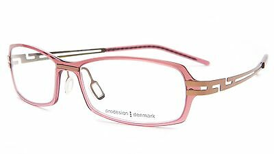 c3d23117268 NEW PRODESIGN DENMARK 6501 c.3825 ROSE EYEGLASSES FRAME 53-16-145 B29mm