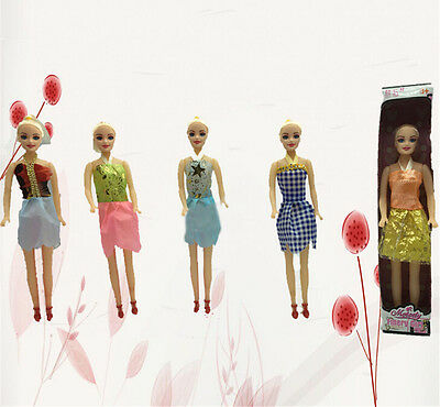 1Pc Barbie Dolls Toys Cute Dolls With Dress Kids Gift Home Decor KW