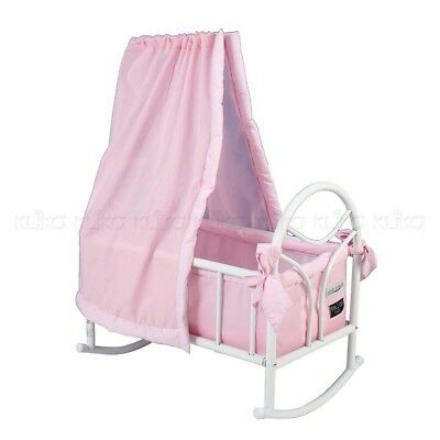 Valco Baby Just Like Mum Doll Cradle Rocker Cot Toy Play Kids Children Pink NEW