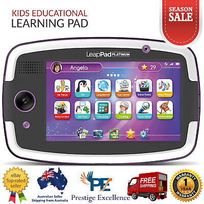 New LeapFrog LeapPad Platinum Purple Learning Tablet 7 Inches for 3+ Years