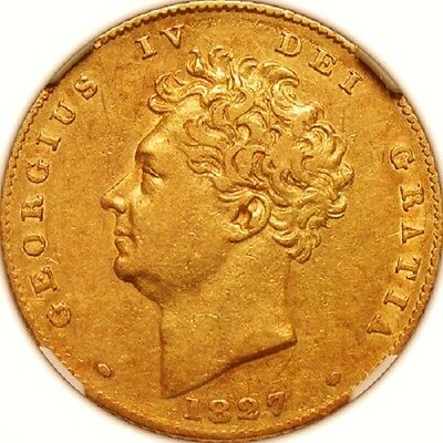 1827 George Iv Half Sovereign  Ngc Guaranteed Certified